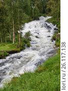 Купить «Водопад в Норвегии», фото № 26117138, снято 10 августа 2011 г. (c) Юлия Бабкина / Фотобанк Лори