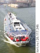 Купить «Tourist recreational boat», фото № 26117346, снято 5 марта 2011 г. (c) Роман Сигаев / Фотобанк Лори