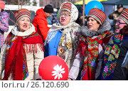 Купить «Томск. Масленичные гулянья», фото № 26120690, снято 13 марта 2016 г. (c) Павел Сапожников / Фотобанк Лори