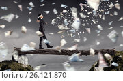 Купить «Overcome fear of failure . Mixed media», фото № 26121870, снято 25 марта 2014 г. (c) Sergey Nivens / Фотобанк Лори