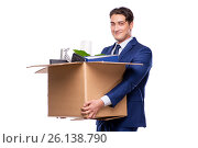 Купить «Businessman made redundant fired after dismissal», фото № 26138790, снято 4 октября 2016 г. (c) Elnur / Фотобанк Лори