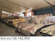 Купить «Штурмовое орудие StuG 40 Ausf. F вооруженных сил нацистской Германии в Центральном музее бронетанкового вооружения и техники, Кубинка», фото № 26142954, снято 1 сентября 2015 г. (c) Pukhov K / Фотобанк Лори