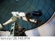 Купить «modern telescope in observatory», фото № 26143914, снято 17 апреля 2016 г. (c) Яков Филимонов / Фотобанк Лори