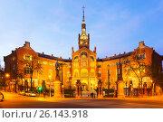 Купить «Facade of Hospital de Sant Pau in sunset. Barcelona», фото № 26143918, снято 21 мая 2018 г. (c) Яков Филимонов / Фотобанк Лори