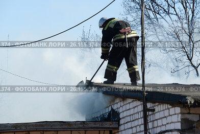 Пожар в гаражном массиве