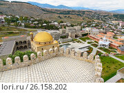 Купить «View on Rabati Castle from citadel in Akhaltsikhe, Georgia», фото № 26158202, снято 29 сентября 2016 г. (c) Elena Odareeva / Фотобанк Лори