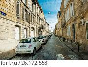 Улица Бордо летним днем, Франция (2016 год). Редакционное фото, фотограф Елена Поминова / Фотобанк Лори