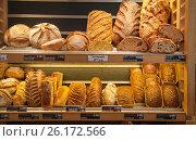 Прилавок с хлебом (2016 год). Стоковое фото, фотограф Елена Поминова / Фотобанк Лори