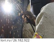 Электросварка. Стоковое фото, фотограф Игорь Хамицаев / Фотобанк Лори