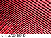 Купить «Abstract metallic red background with stripes», фото № 26186134, снято 20 апреля 2017 г. (c) Сергей Лабутин / Фотобанк Лори