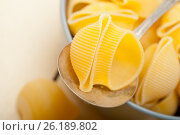 Italian snail lumaconi pasta. Стоковое фото, фотограф Francesco Perre / Фотобанк Лори