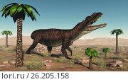 Prestosuchus dinosaur - 3D render. Стоковое фото, фотограф Zoonar/Elena Duverna / easy Fotostock / Фотобанк Лори