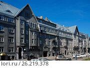 Купить «Riga, Rupniecibas 5-7, apartment house in Art Nouveau style, Art Nouveau quarter», фото № 26219378, снято 4 мая 2017 г. (c) Andrejs Vareniks / Фотобанк Лори