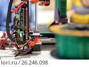 Купить «printer 3d at robotics school», фото № 26246098, снято 23 октября 2016 г. (c) Syda Productions / Фотобанк Лори