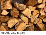 Купить «close up of firewood», фото № 26246386, снято 17 февраля 2017 г. (c) Syda Productions / Фотобанк Лори