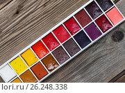 Купить «Handcraft watercolor paint», фото № 26248338, снято 7 апреля 2016 г. (c) Astroid / Фотобанк Лори