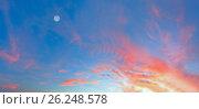 Купить «Sunset sky background», фото № 26248578, снято 22 сентября 2018 г. (c) Юрий Брыкайло / Фотобанк Лори