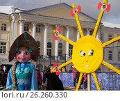 Купить «Масленица, Ярославль 2017», фото № 26260330, снято 7 июня 2020 г. (c) Сергей Гаврилов / Фотобанк Лори