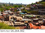 Тбилиси. Серные бани, вид сверху. (2017 год). Редакционное фото, фотограф Сергей Афанасьев / Фотобанк Лори