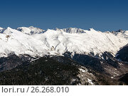 Купить «Ski resort Rosa Khutor. Mountains of Krasnaya Polyana. Sochi, Russia», фото № 26268010, снято 10 февраля 2016 г. (c) Сергей Лаврентьев / Фотобанк Лори