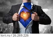 Купить «His super abilities. Mixed media», фото № 26269226, снято 12 марта 2014 г. (c) Sergey Nivens / Фотобанк Лори