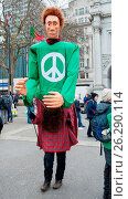 Купить «Thousands march and hold a CND rally in Trafalgar Square against the UK's ownership of nuclear weapons. Featuring: View Where: London, United Kingdom When: 26 Feb 2016 Credit: WENN.com», фото № 26290114, снято 26 февраля 2016 г. (c) age Fotostock / Фотобанк Лори