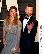 Купить «Vanity Fair Oscar Party at Wallis Annenberg Center for Performing Arts - Arrivals Featuring: Jessica Biel, Justin Timberlake Where: Los Angeles, California...», фото № 26302894, снято 28 февраля 2016 г. (c) age Fotostock / Фотобанк Лори