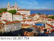 Купить «Lisbon city view, Portugal», фото № 26307754, снято 5 апреля 2017 г. (c) Алексей Кузнецов / Фотобанк Лори