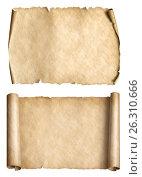 Купить «Old paper parchments 3d illustration set», иллюстрация № 26310666 (c) Андрей Кузьмин / Фотобанк Лори
