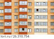 Купить «Close view on residental building», фото № 26310754, снято 9 июля 2016 г. (c) Илья Малов / Фотобанк Лори