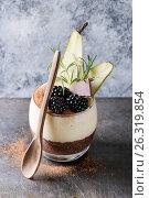Chia pudding with rice porridge. Стоковое фото, фотограф Natasha Breen / Фотобанк Лори