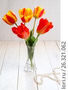Image with tulips. Стоковое фото, фотограф Ирина Толокновская / Фотобанк Лори