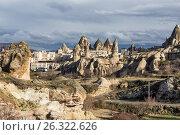 Вид на город Гереме, Каппадокия. Турция, фото № 26322626, снято 6 января 2015 г. (c) Юлия Бабкина / Фотобанк Лори