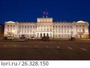 Купить «Вид на Мариинский дворец майской ночью. Ночной Санкт-Петербург», фото № 26328150, снято 3 мая 2017 г. (c) Виктор Карасев / Фотобанк Лори