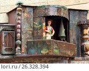 Купить «Представление миниатюрного театра в центральной части башни. Театр марионеток Резо Габриадзе, Тбилиси, Грузия», фото № 26328394, снято 4 мая 2017 г. (c) Сергей Афанасьев / Фотобанк Лори
