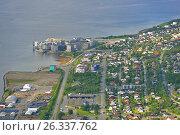 Купить «Город Тромсё, Норвегия. Вид с высоты», фото № 26337762, снято 15 июня 2016 г. (c) Валерия Попова / Фотобанк Лори
