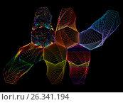 Graphic composition of lace designs. Стоковая иллюстрация, иллюстратор vladimir vershvovski (Владимир Вершвовский) / Фотобанк Лори