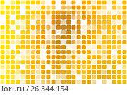 Купить «Bright golden yellow occasional opacity mosaic over white», иллюстрация № 26344154 (c) TasiPas / Фотобанк Лори