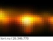 Купить «Black orange yellow abstract rounded mosaic background», иллюстрация № 26346770 (c) TasiPas / Фотобанк Лори