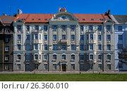 Купить «Riga, Eksporta 5, decorative Art Nouveau», фото № 26360010, снято 4 мая 2017 г. (c) Andrejs Vareniks / Фотобанк Лори