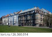 Купить «Riga, street of Export 3-5, block near the port», фото № 26360014, снято 4 мая 2017 г. (c) Andrejs Vareniks / Фотобанк Лори