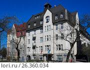 Купить «Riga, Kronvalda boulevard 8, art deco», фото № 26360034, снято 4 мая 2017 г. (c) Andrejs Vareniks / Фотобанк Лори