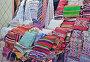 Продажа текстильных изделий - одеял, покрывал и подушек - в Марокко, фото № 26360070, снято 5 мая 2017 г. (c) Елена Перминова / Фотобанк Лори