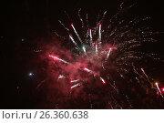Купить «Colorful fireworks over black sky», фото № 26360638, снято 1 января 2013 г. (c) Tatjana Romanova / Фотобанк Лори