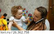 Купить «Happy baby in her favorite house», видеоролик № 26362758, снято 22 мая 2017 г. (c) Константин Мерцалов / Фотобанк Лори