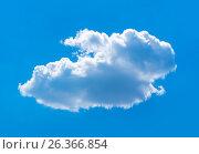 White cloud in the blue sky. Стоковое фото, фотограф Dmitriy Melnikov / Фотобанк Лори