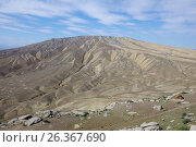 Купить «Mud volcano Kyagnizadag in Gobustan. Azerbaijan», фото № 26367690, снято 26 апреля 2017 г. (c) Аркадий Захаров / Фотобанк Лори