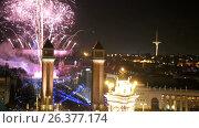 Купить «General view of the square in Barcelona during the celebration of the New Year», видеоролик № 26377174, снято 9 января 2017 г. (c) Яков Филимонов / Фотобанк Лори