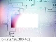 Купить «Composite image of circuit board against white background», иллюстрация № 26380462 (c) Wavebreak Media / Фотобанк Лори