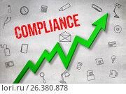 Купить «Composite image of digitally generated image of compliance text», иллюстрация № 26380878 (c) Wavebreak Media / Фотобанк Лори